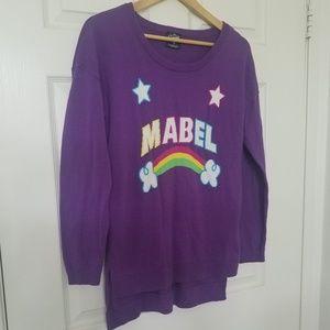 Disney's Gravity Falls Sweater Mabel L Purple Auth